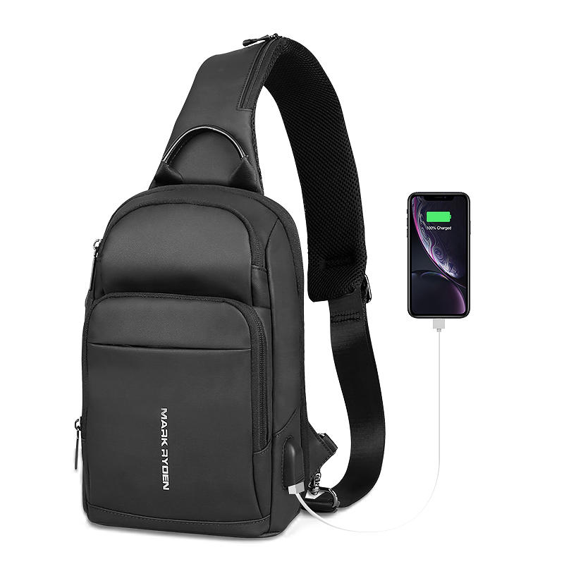 Mark Ryden Anti Theft Sling Bag Laptop Bag Waterproof Shoulder Chest Cross Body Backpack Lightweight Casual Daypack for ipad Stylish Crossbody Bag Fit 9.7 inch Ipad