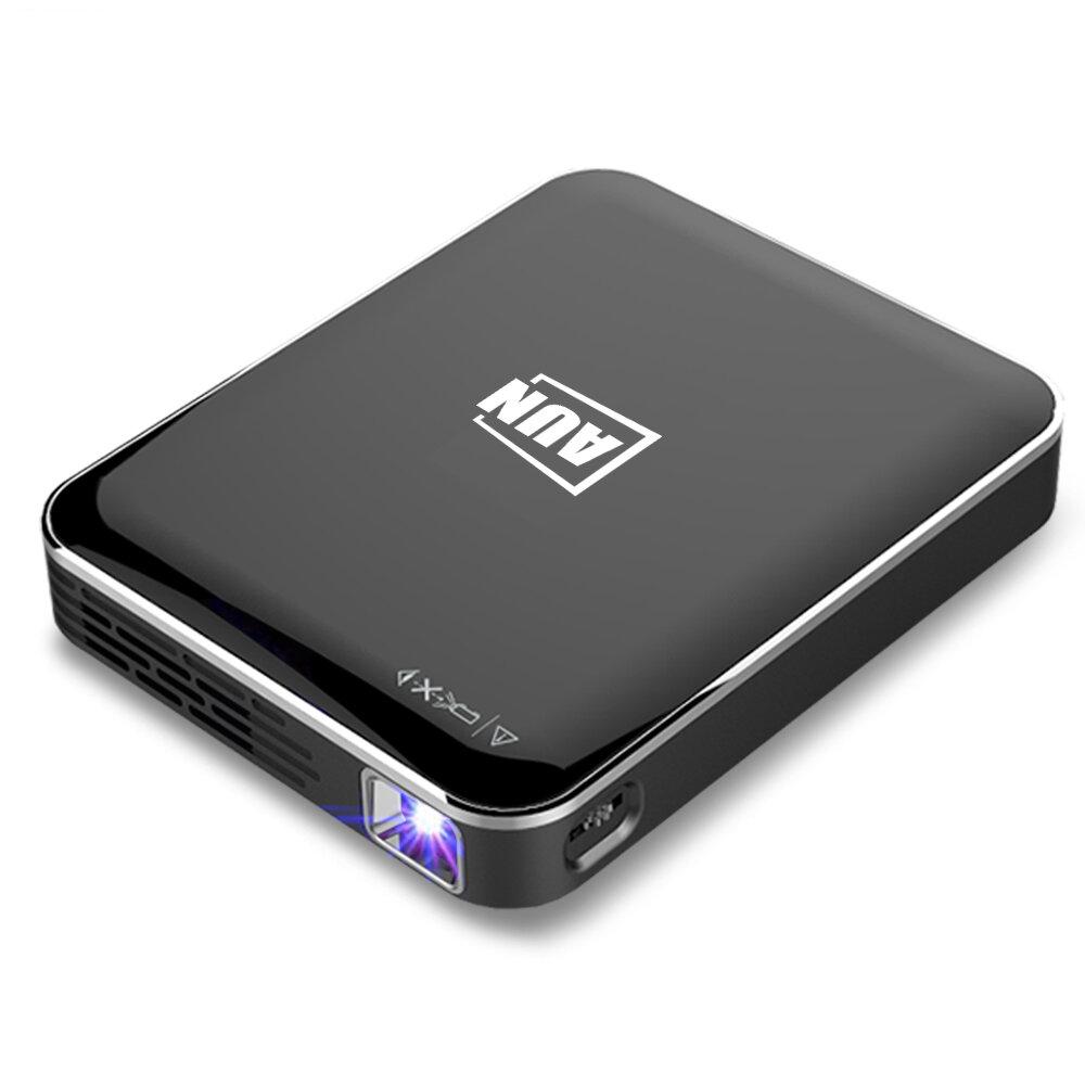 AUN X3 Mini projetor 1080P Espelhamento de tela de telefone Android / IOS Projetor de cinema em casa 3D 3200mAH Bateria Projetor portátil