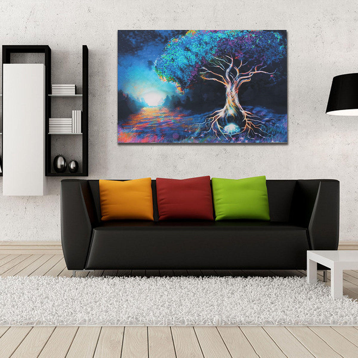 Psychedelic Trippy Tree Pattern Silk Fabric Poster Visual Mind Manifesting  Wall Paper