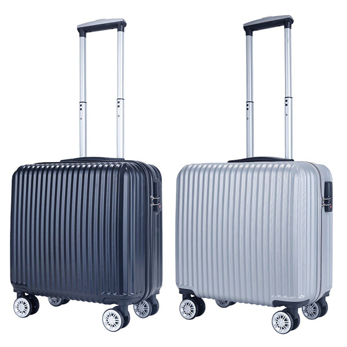 18inch Luggage Trolley Universal Mute Wheel Password Lock Travel Suitcase Fashion Aluminum Frame Trolley Box