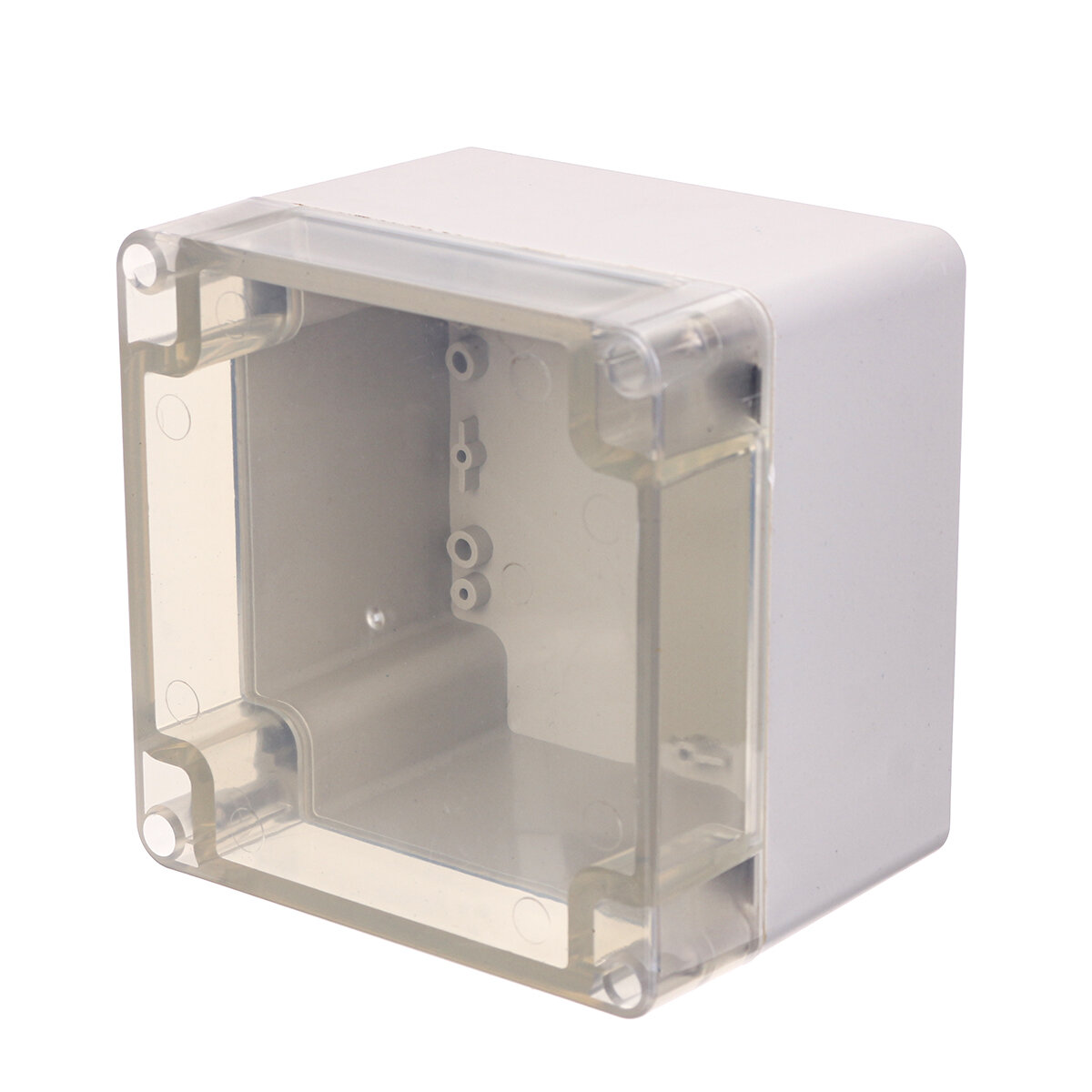 Plastic Waterproof Electronic Project Box Clear Enclosure Cover Electronic Project Case 120*120*90mm