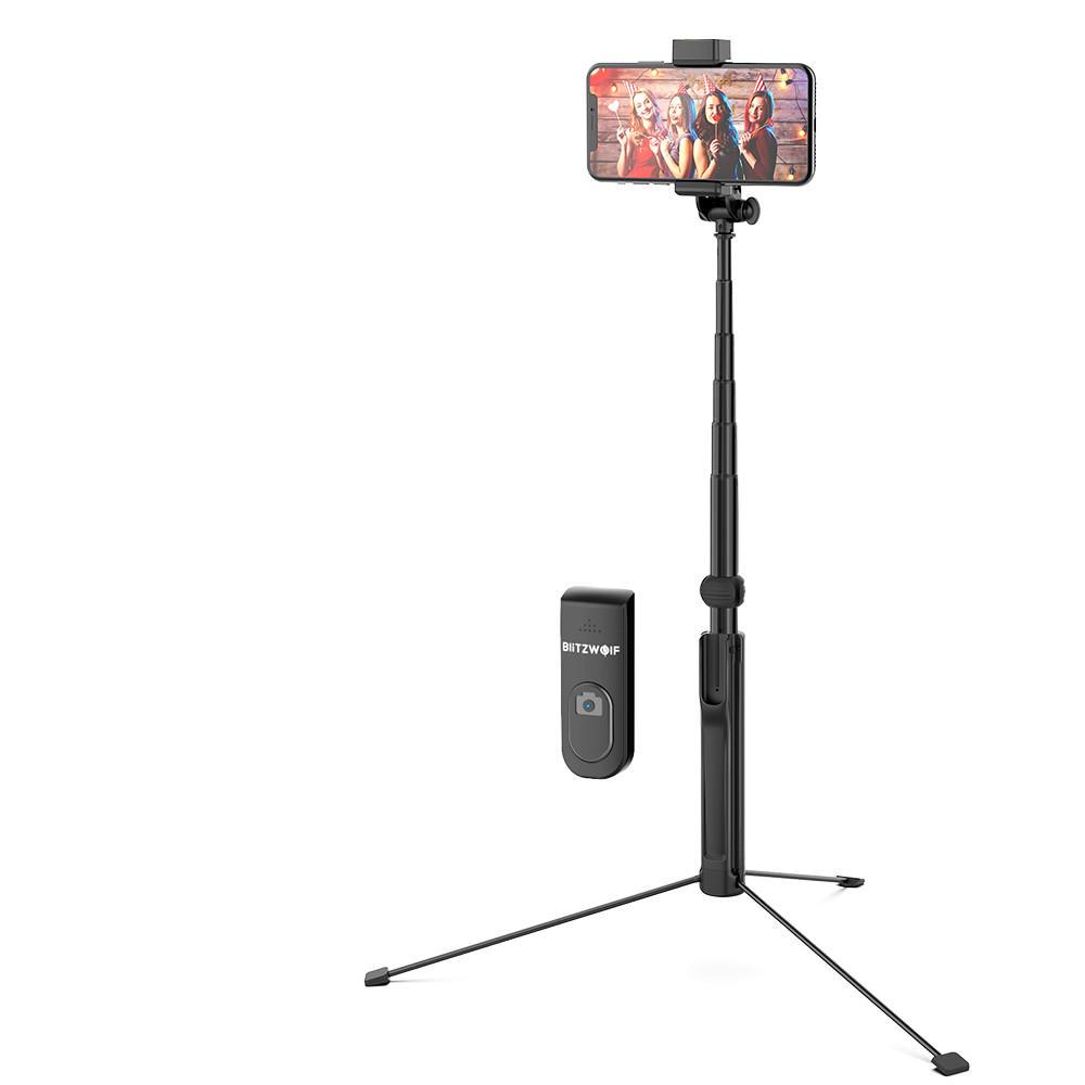 BlitzWolf® BW-BS8L Lange uitschuifbare 3-in-1 roterende selfie-stick met meerdere hoekrotaties