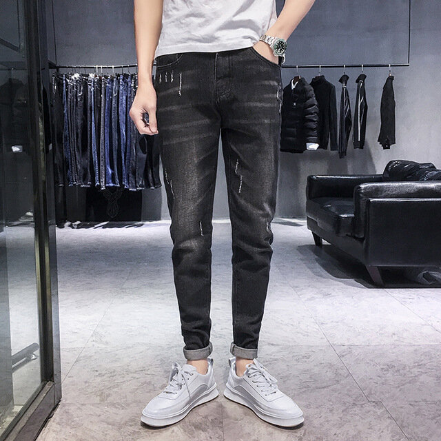 Elastic Men's Jeans Casual Slim Feet Pants Trend Men's Long Pants