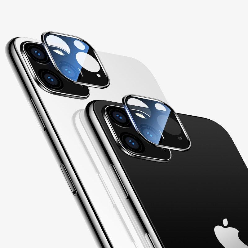 Cafele 2PCS HD Vidro Temperado Transparente + Metal Dois em One Protetor de lente de telefone de cobertura completa sem costura para iPhone 11 / Pro / Pro Max