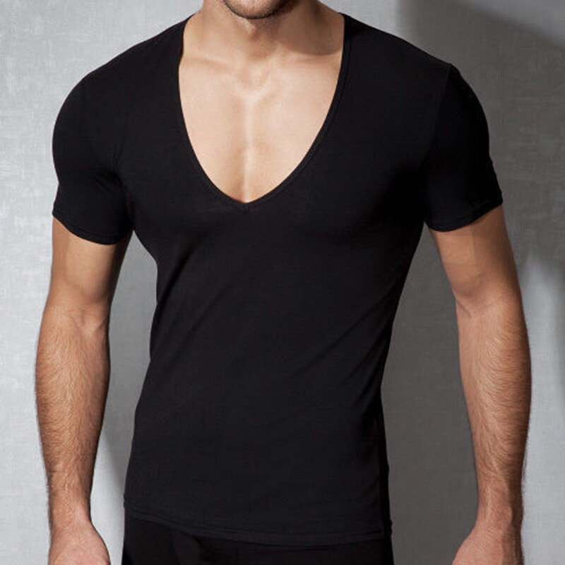 Mens Modal Well-absorbent Breathable Smooth Bodybuilding Gym Tops