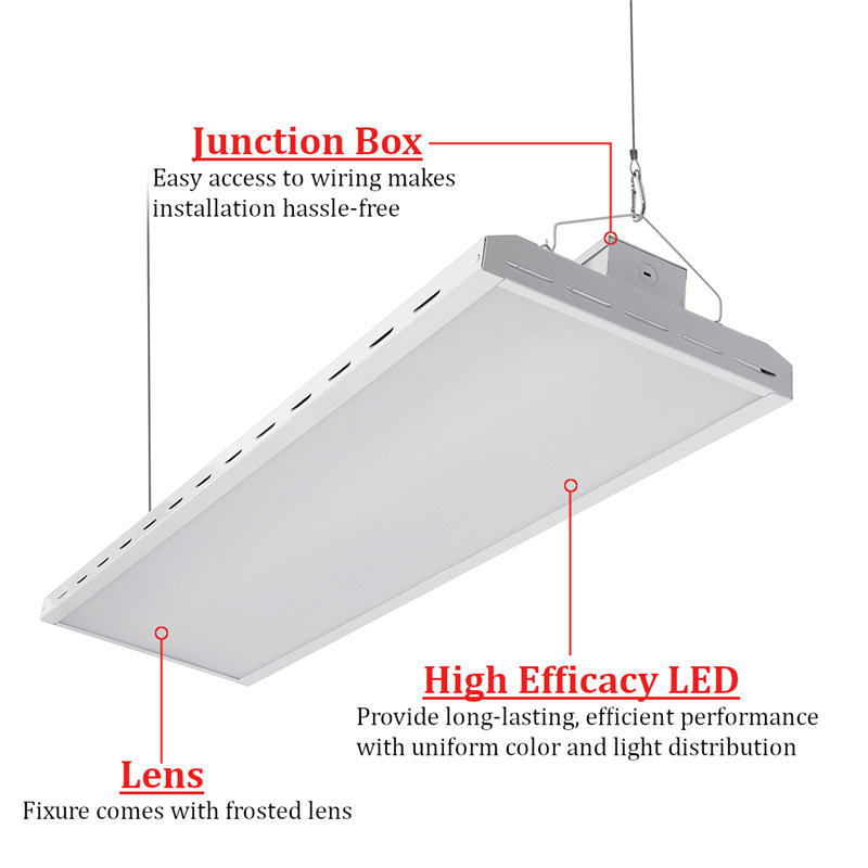 Linear LED High Bay Light 320W 2835SMD PE+PS Material Dimmable 0-10v Input Voltage 100-277VAC 50-60Hz White Pendant Light