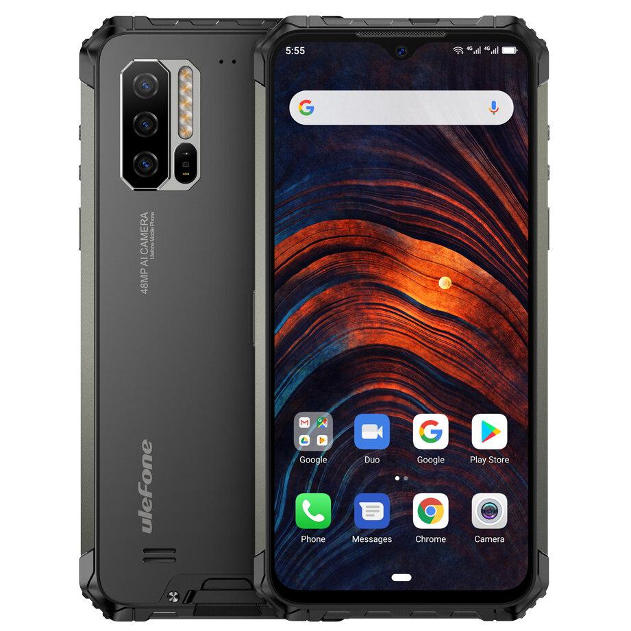 Ulefone Armor 7 IP68 IP69K Wodoodporny 6,3 cala 8 GB 128 GB 48 MP Potrójny aparat NFC 5500 mAh Bezprzewodowe ładowanie Helio P90 Octa Core 4G Smartphone
