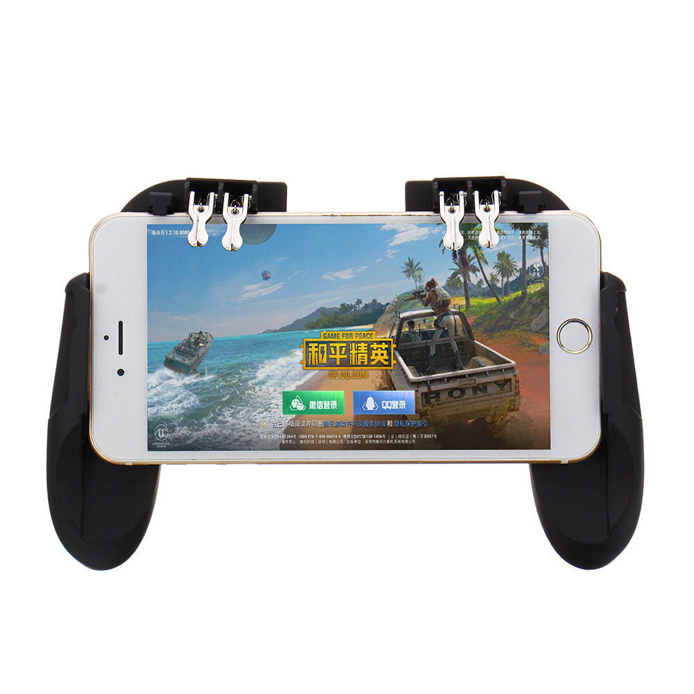 H9 Six Fingers SR Cooling Fan Gamepad Controller Cooler for iPhone Android for PUBG Games Buil-in Battery