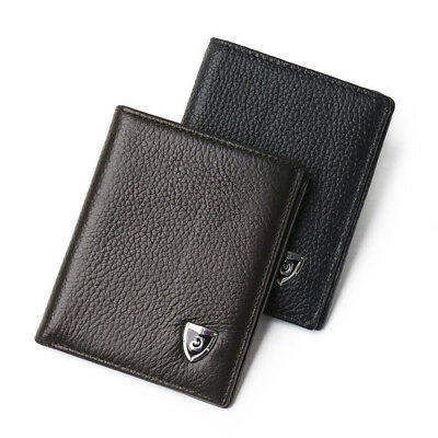 Genuine Leather New Mens Wallet  Small ID Card Holder Bifold Cowhide Slim Purse