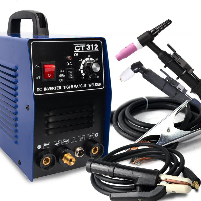 CT312 3 in 1 TIG MMA CUT TIG Welder Inverter Welding Machine 120A TIG/ MMA 30A Plasma Cutter Portable Multifunction Welding Equipment 220V