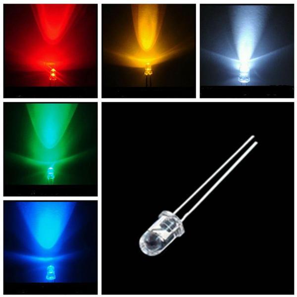 10 x Round LED 3MM Ultralight Lamp 3.2 - 3.4V 1500 - NOVO 2000MCD