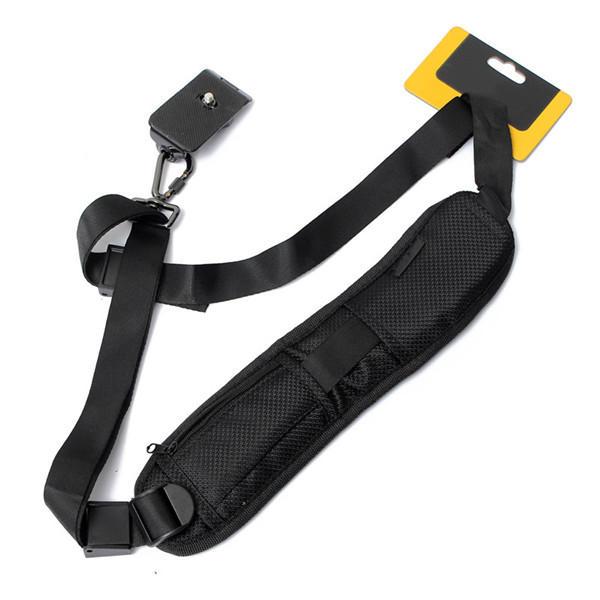 Estilingue cinto de nylon ombro alça de pescoço para Nikon Canon EOS DSLR SLR preto