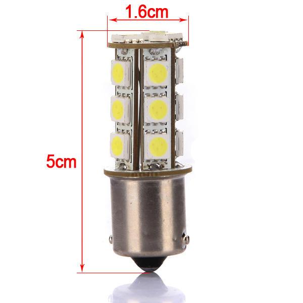 Voiture 1156 Ba15s 18 cms 5050 LED frein queue lumière intérieure ampoule 12v