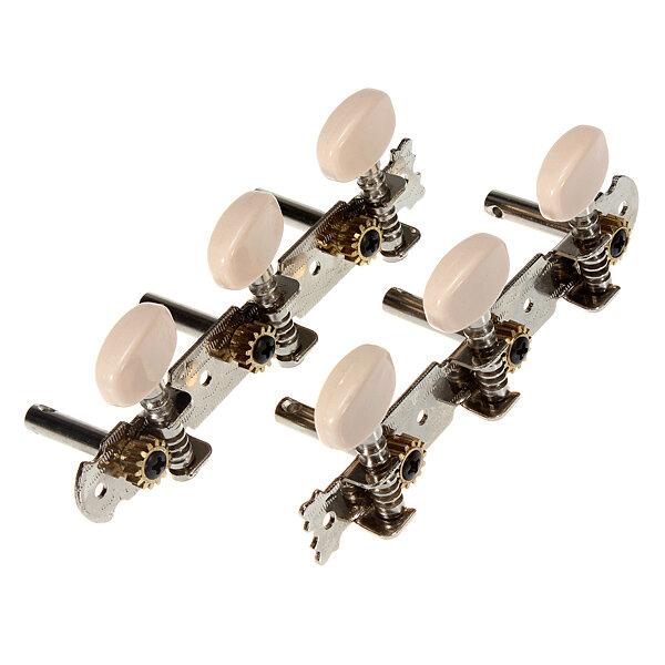 2 guitarra clássica teclas de sintonia sintonizador pinos cabeças de máquinas