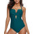 One Pieces Pure Color Backless Swimwear By Banggood