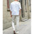 Mens Casual Cotton Crew Neck Tops Solid Color T-shirts