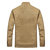 Mens Casual Multi Pockets Thick Warm Stand Collar Cotton Jacket