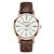 KINGNUOUS 022 Casual Style Leather Strap Men Wrist Watch Leather Band Quartz Watches