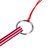 Diving Colorful Aluminum Alloy Metal Dive Lobster Stick Rod Hand Rope Lanyard