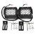 4Inch LED Work Light Bar Spot Beam 36W 2200LM White 2PCS for Motorcycle Boat Off Road Truck ATV