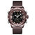 NAVIFORCE 9153 Business Style LED Dual Digital Watch Waterproof Full Steel Quartz Watch