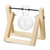 Vintage Style Water Glass Tabletop Plant Bonsai Flower Vase Wooden Frame Tray Glass Hydroponic System
