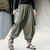 Casual Cotton Linen Solid Color Baggy Loose Harem Pants for Men
