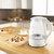 Ultra-kabelloser elektrischer Wasserkocher, schnell kochende Glas-Teekanne, 1,7 l, 1850 W, mit LED hellem Glas, schnell kochende automatische Abschaltung, Trockengehschutz