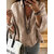 Women 3/4 Sleeve Solid Color Loose Blouse