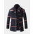 Mens Vintage Buttons Woolen Coat Thickened Warm Stand Collar Casual Jacket With Removable Scarf