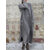 Lace Patchwork Solid Color Long Sleeve Casual Maxi Dress For Women