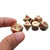 Pure Copper Polyhedral Dices Set Metal Role Playing Game Dice Gadget for Dungeons Dragon Games Gift