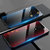 Bakeey Carbon Fiber Gradient Color Shockproof Tempered Glass Protective Case for OnePlus 7