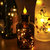 5PCS Battery Operated Flicker Bottle String Light Warm White Cork Shape Copper Wire LED Candle Lamp