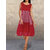 Casual Polka Dot Plaid Patchwork Sleeveless Plus Size Short Dress