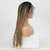 Three Dirty Scorpion Ladies Long Straight Gradient Front Lace Chemical Fiber Wig - Black Brown