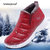 Women Plush Lining Waterproof Non-slip Winter Athletic Casual Shoes Sneakers