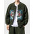 Mens Fleece Embroidery Solid Color Thickened Long Sleeve Casual Jacket