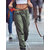 Casual Solid Button Women Pants with Pocket