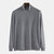 Mens Cotton Fashion High Collar Solid Color Casual Sweaters