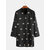 Mens Fashion Printing Stand Collar Mid Long camisas casuales