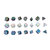 7 Pcs Alloy Polyhedral Dices Set Role Playing Game Accessory For Dungeons Dragons