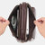 Men Genuine Leather Crossbody Bag Handbag Pockets Wear Belt Phone Bag Multi-function Waist Bag