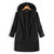 Women Casual Zipper Long Sleeve Thicken Solid Coats with Pocket