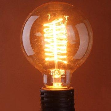 G125 E27 60W 110/220V 125x176mm Incandescent Bulb Retro Edison Bulbs