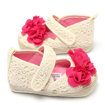 Toddler Baby Girl Rose Soft Sole Anti-slip Crib Prewalker Shoes