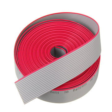 5M 1.27mm Pitch 16 Pin 16P Grey Gray Flat Ribbon Data Cable Wire Connector AWG28 300V