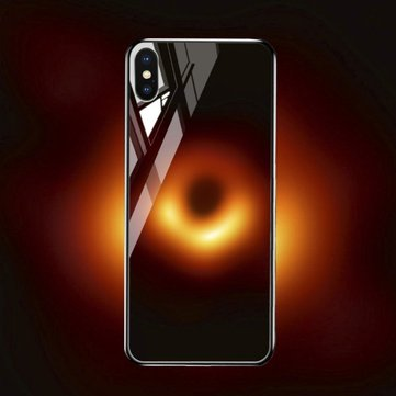 Bakeey Black Hole Scratch Resistant Tempered Glass Protective Case For iPhone XS Max
