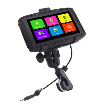 5Inch IPS Waterproof Motorcycle Car GPS Navigation Adjustable Touch Screen With bluetooth Function