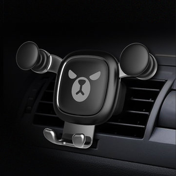Universal Gravity Linkage Auto Lock Car Air Vent Holder Stand for iPhone Xiaomi Mobile Phone